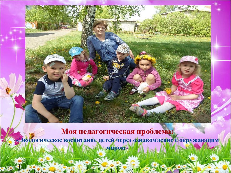 Моя педагогическая проблема: «Экологическое воспитание детей через ознакомлен...