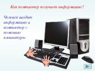 Как компьютер получает информацию? Человек вводит информацию в компьютер с по
