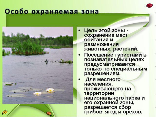 Цель этой зоны - сохранение мест обитания и размножения животных, растений. П...