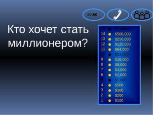 15 14 13 12 11 10 9 8 7 6 5 4 3 2 1 $1 Million $500,000 $250,000 $125,000 $6