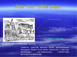 Ана тілі сабағында БӨДЕНЕ МЕН ТҮЛКІ (Қазақ ертегісі) Рольге оқыту Аңдардың да
