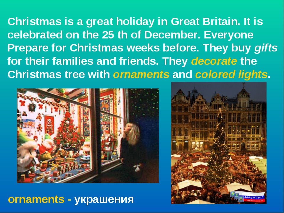 Christmas is a great holiday in Great Britain. It is celebrated on the 25 th...