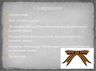 Предисловие Мое семейное древо Фоломеев Михаил Иванович (мой прапрадедушка по