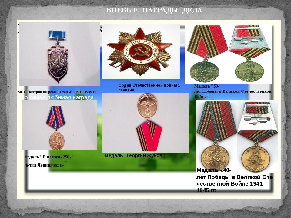 """Знак """"Ветеран Морской Пехоты"""" 1941 - 1945 гг. Это самая любимая награда прап..."""