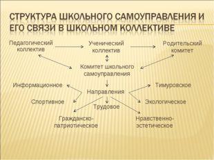 Педагогический коллектив Ученический коллектив Родительский комитет Комитет ш