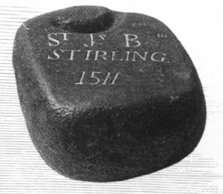 ФОТО 1511 — камень для игры в кёрлинг датированный 1511 годом.