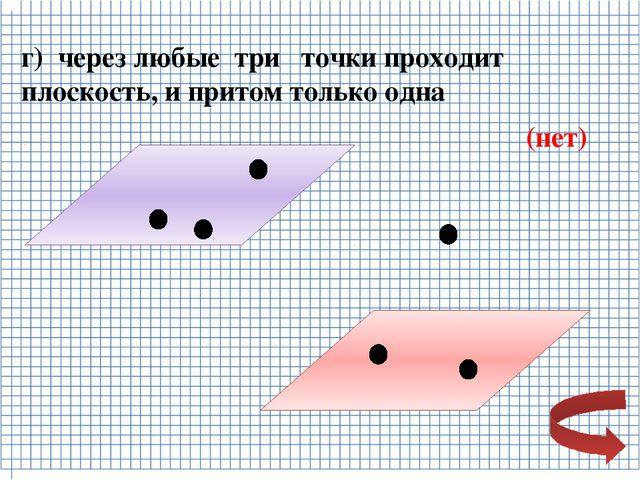 Верно ли, что прямая лежит в плоскости данного треугольника, если она: а) пер...