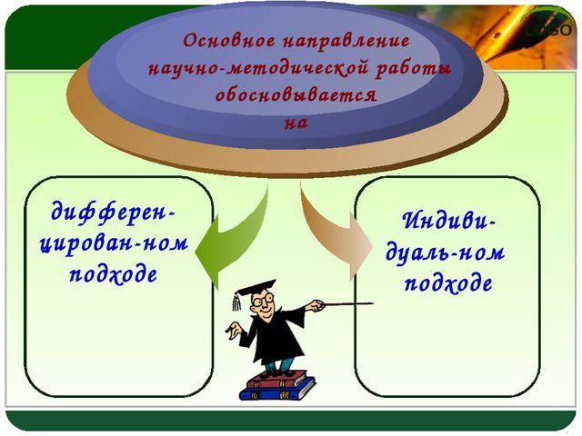 дифферен-цирован-ном подходе Основное направление научно-методической работы...