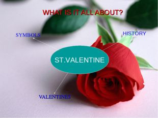 WHAT IS IT ALL ABOUT? VALENTINES ST.VALENTINE HISTORY SYMBOLS