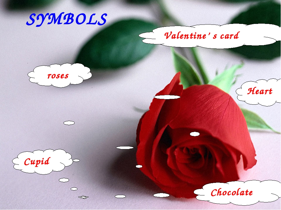 SYMBOLS roses Valentine' s card Heart Cupid Chocolate