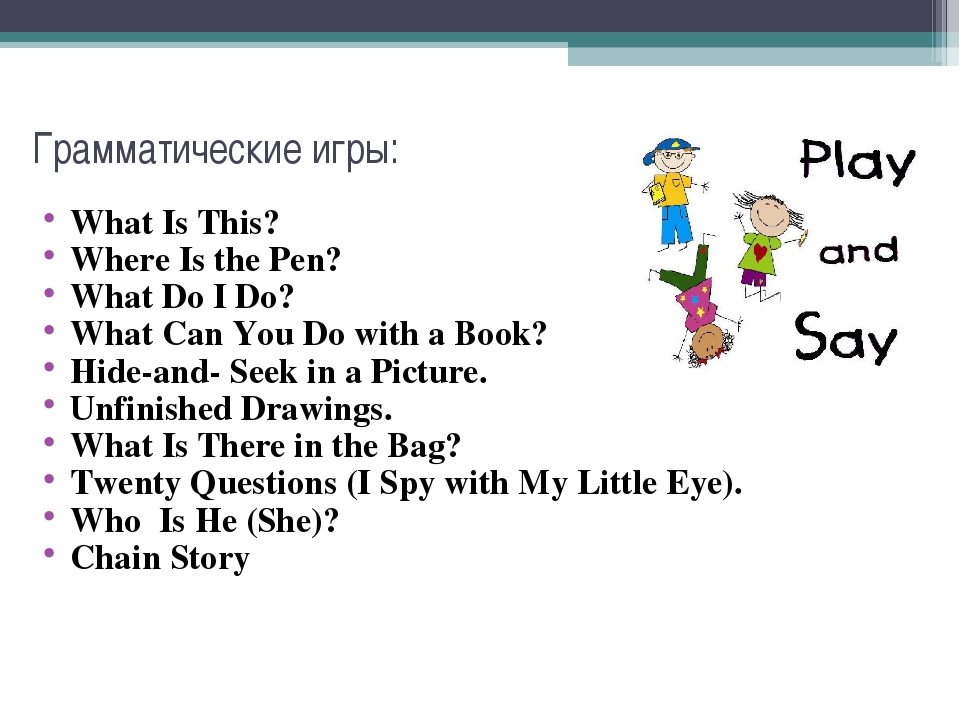 Грамматические игры: What Is This? Where Is the Pen? What Do I Do? What Can Y...