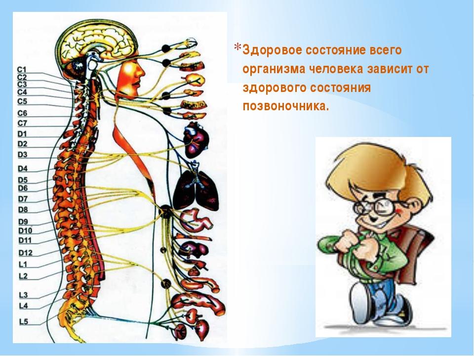 Здоровое состояние всего организма человека зависит от здорового состояния п...