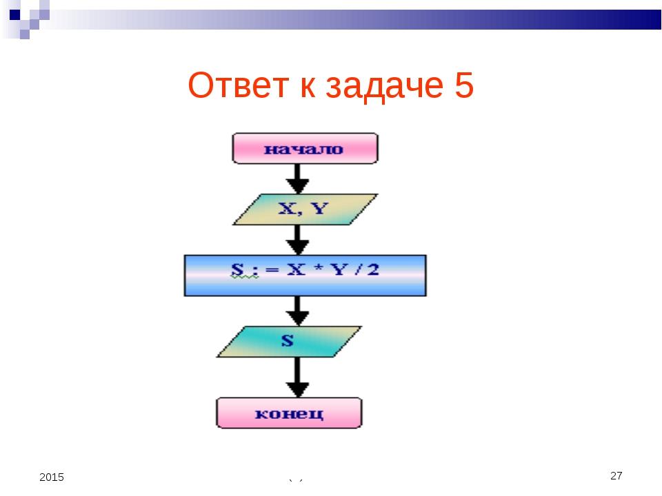 (С) Болгова Н.А. * 2015 Ответ к задаче 5 (С) Болгова Н.А.