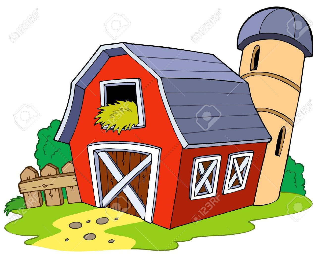 C:\Users\Таня\Desktop\картинки проекта\7630265-Cartoon-red-barn-Stock-Vector-farm.jpg