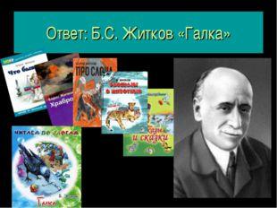 Ответ: Б.С. Житков «Галка»