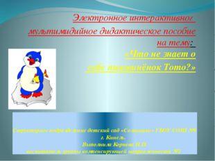 Структурное подразделение детский сад «Солнышко» ГБОУ СОШ №9 г. Кинель. Выпол