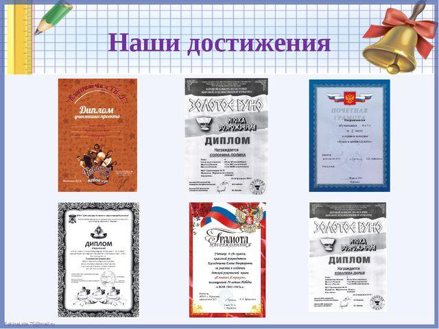 Наши достижения FokinaLida.75@mail.ru
