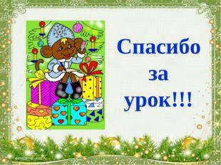 Спасибо за урок!!! *