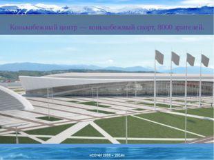 Конькобежный центр— конькобежный спорт, 8000 зрителей. «СОЧИ 2006 – 2014»