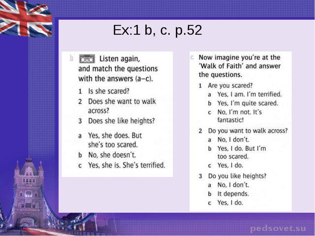 Ex:1 b, c. p.52
