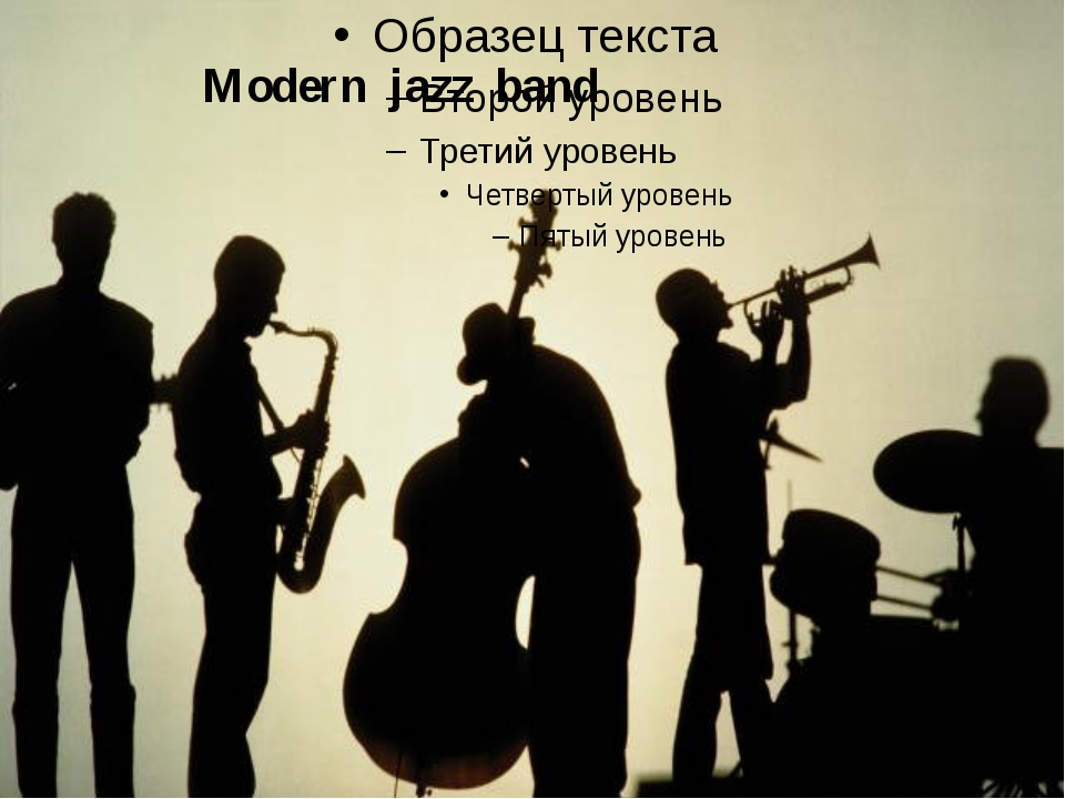 Modern jazz band