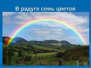 В радуге семь цветов