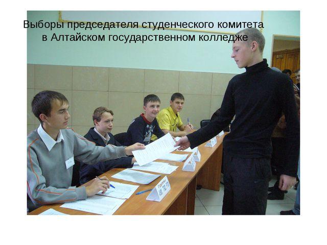 Выборы председателя студенческого комитета в Алтайском государственном колледже