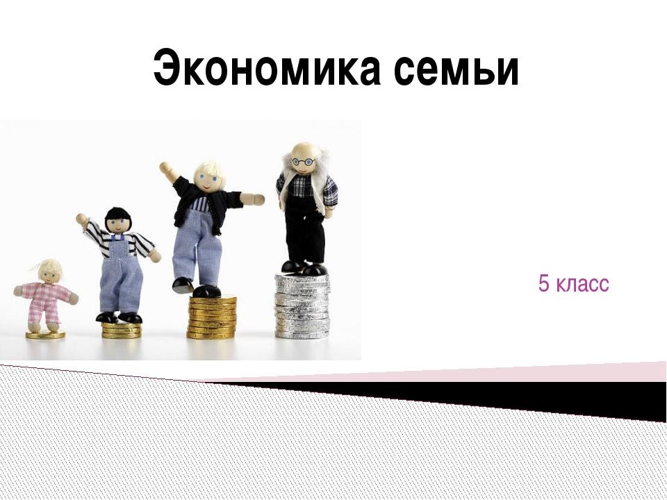Введение 5 класс Экономика семьи