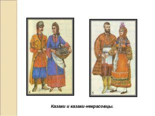 Казаки и казаки-некрасовцы.