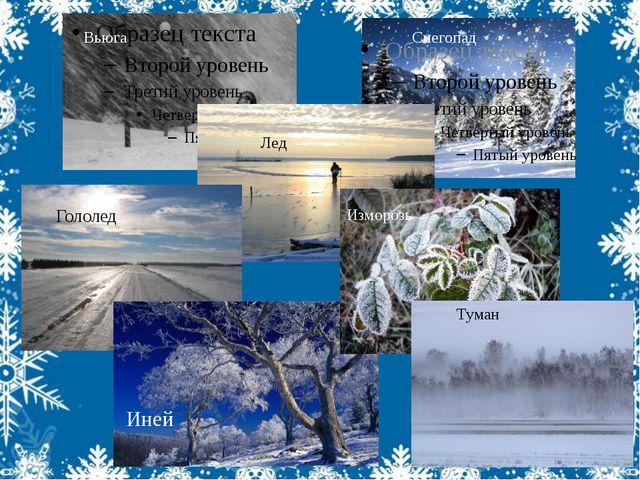 Туман Иней Гололед Вьюга Снегопад Лед Изморозь