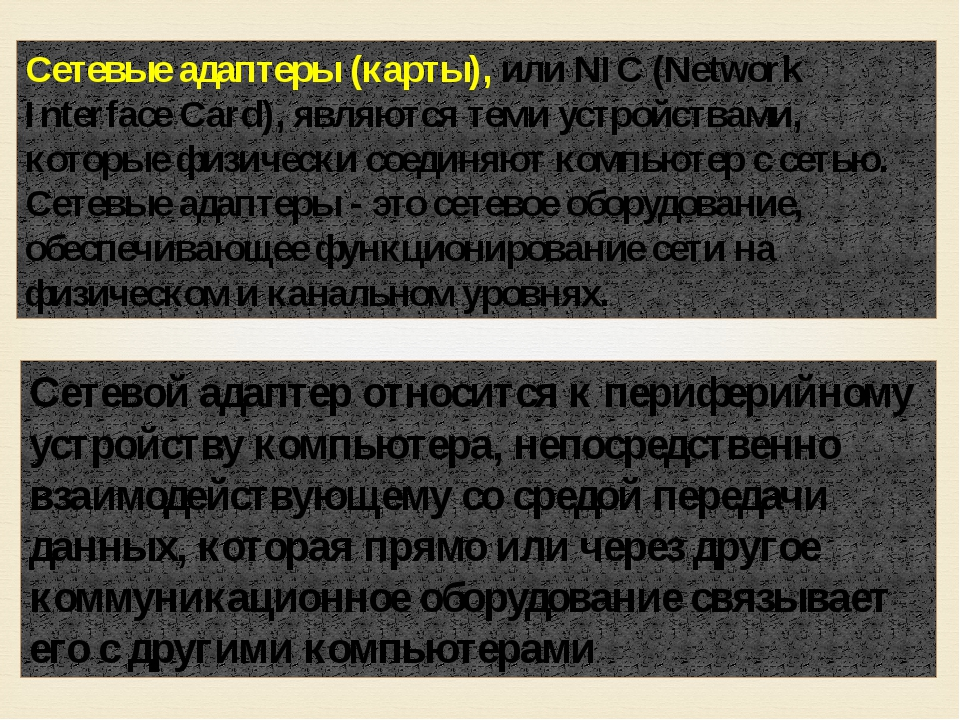 Сетевые адаптеры (карты), или NIC (Network Interface Card), являются теми уст...