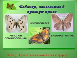 ВЫВОД: Нужно бережно относиться к природе !