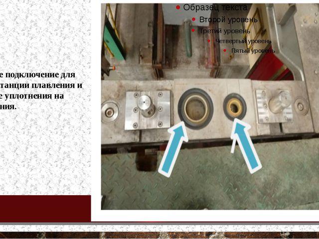 - очистите подключение для воды на станции плавления и проверьте уплотнения...