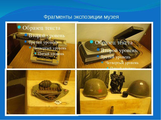 Фрагменты экспозиции музея