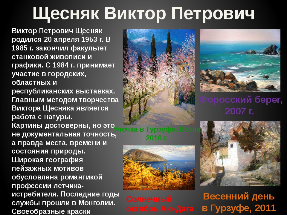 Щесняк Виктор Петрович Виктор Петрович Щесняк родился 20 апреля 1953 г. В 198...