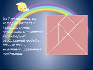 Из 7 элементов, на которые разделен квадрат, можно составить множество харак