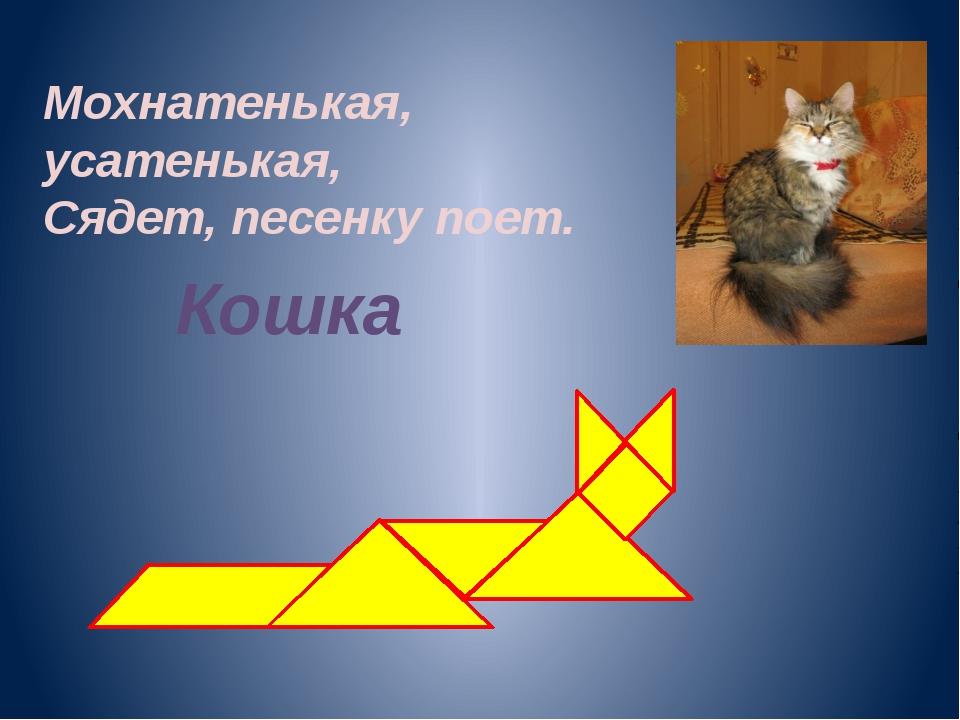 Мохнатенькая, усатенькая, Сядет, песенку поет. Кошка