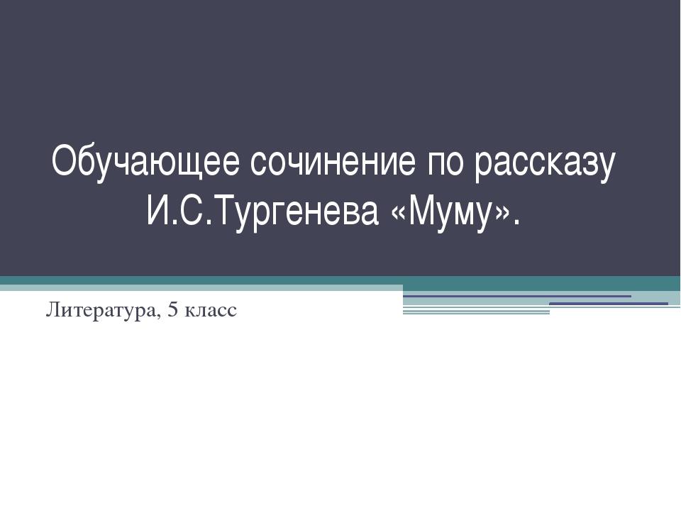 Обучающее сочинение по рассказу И.С.Тургенева «Муму». Литература, 5 класс