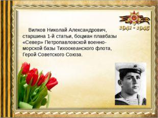 Вилков Николай Александрович, старшина 1-й статьи, боцман плавбазы «Север»