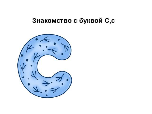 Знакомство с буквой С,с