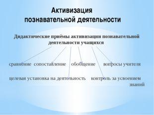 Активизация познавательной деятельности Дидактические приёмы активизации позн