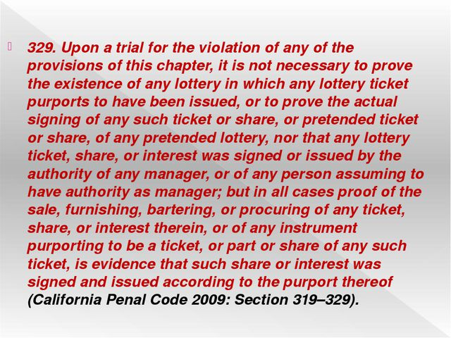329. Upon a trial for the violation of any of the provisions of this chapter,...