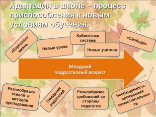 Адаптация в школе – процесс приспособления к новым условиям обучения.  Новые