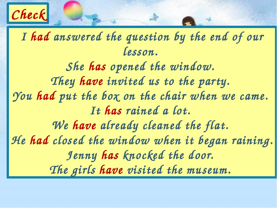 I had answered the question by the end of our lesson. She has opened the wind...