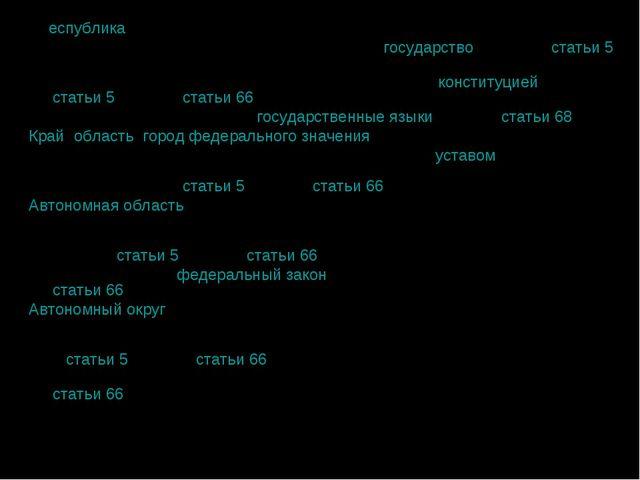 Республика охарактеризована в Конституции России как «государство» (часть 2...
