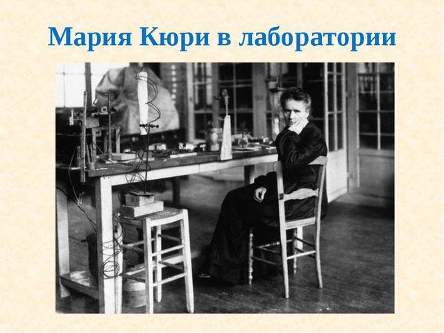 Мария Кюри в лаборатории