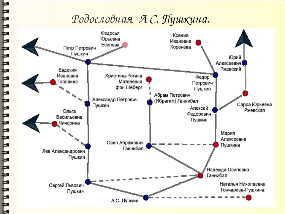 Родословная А С. Пушкина.