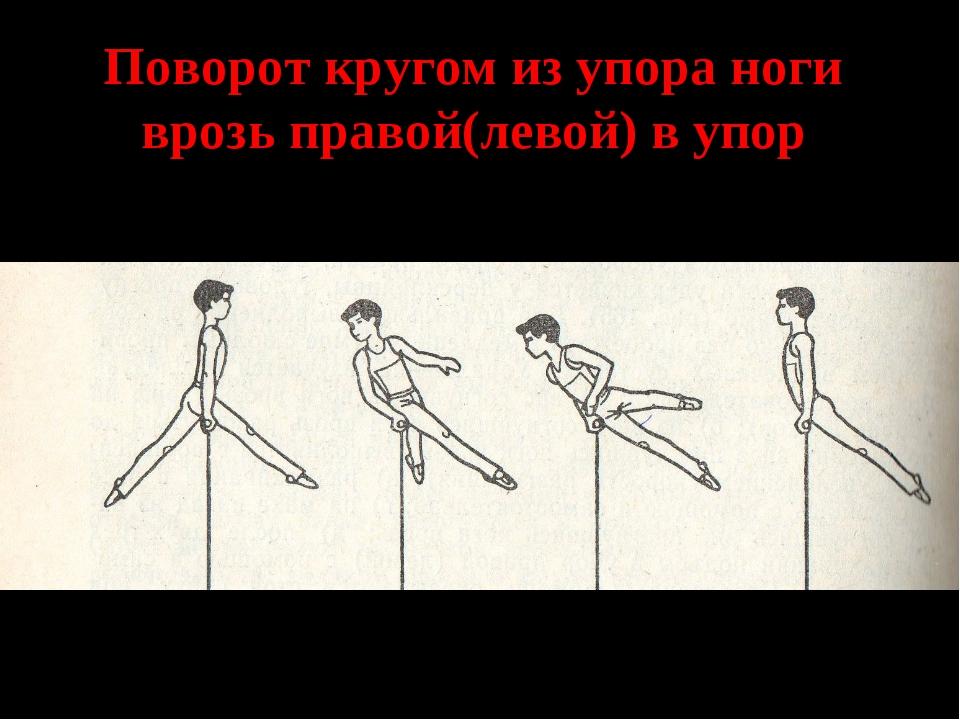 Поворот кругом из упора ноги врозь правой(левой) в упор