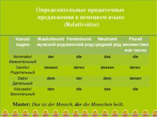 Определительные придаточные предложения в немецком языке (Relativsätze) Must