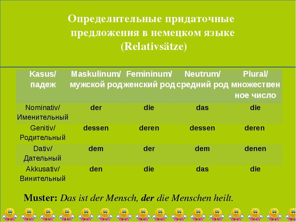 Определительные придаточные предложения в немецком языке (Relativsätze) Must...